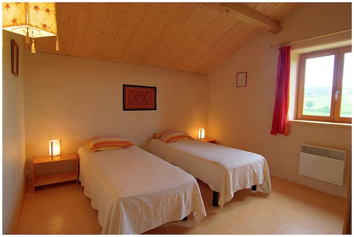 Chambre 2 lits jumelables et toujours la belle vue!