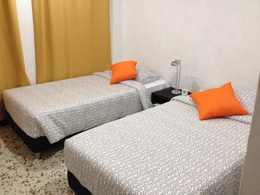 habitación placentera y acogedora