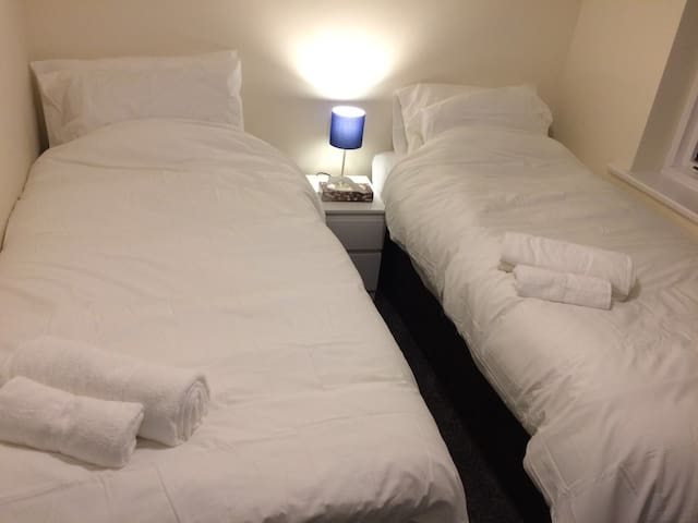 Twin room contains 2 x single beds with memory foam mattress