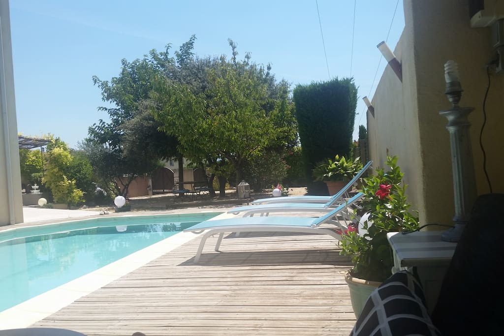 Villa avec piscine et terrain villas for rent in for Chateauneuf de gadagne piscine