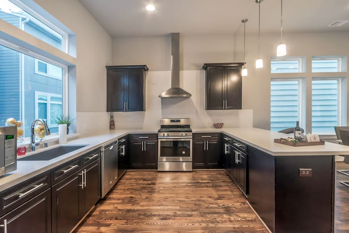 2nd Level: Very Spacious Kitchen fully stocked for your dining needs