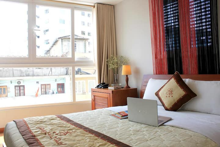 Double Room With Street View at Pham Ngu Lao