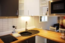 The Newly Fitted Kitchen.