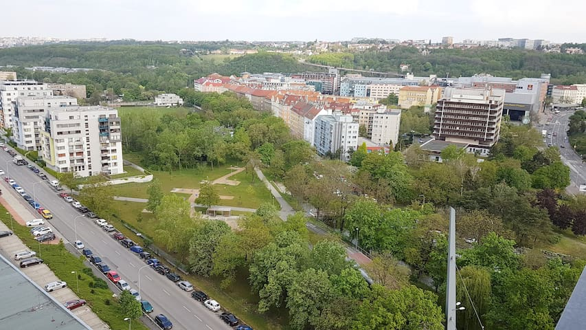 Modern 15th floor apartment with balcony and view