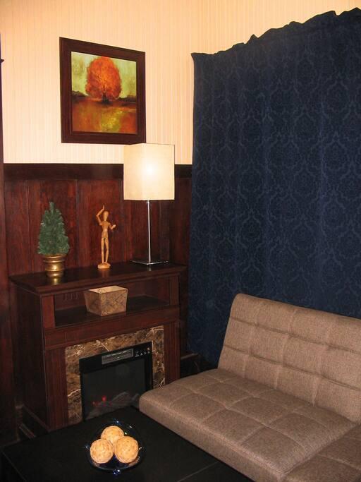 Cozy Electric Fireplace.