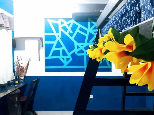 Acogedora habitación para 3,en el Corazon de Tulum