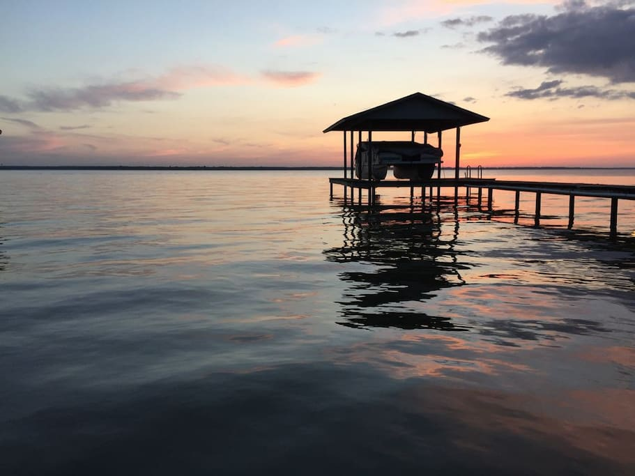 Amazing sunsets (and fishing!) on the dock