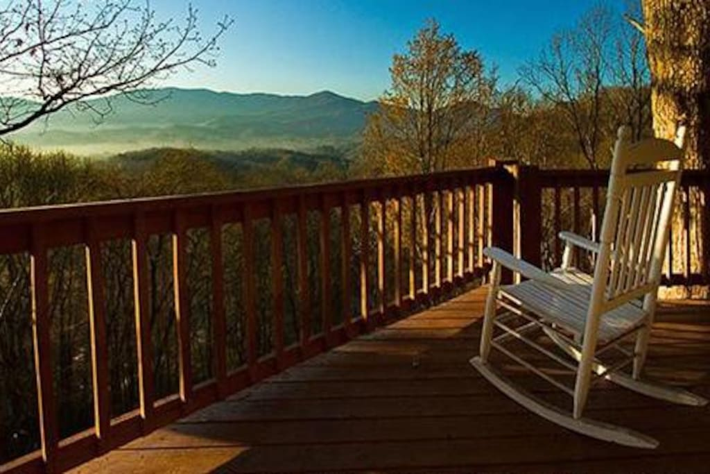 Enjoy the View From the Porch Anytime of Day