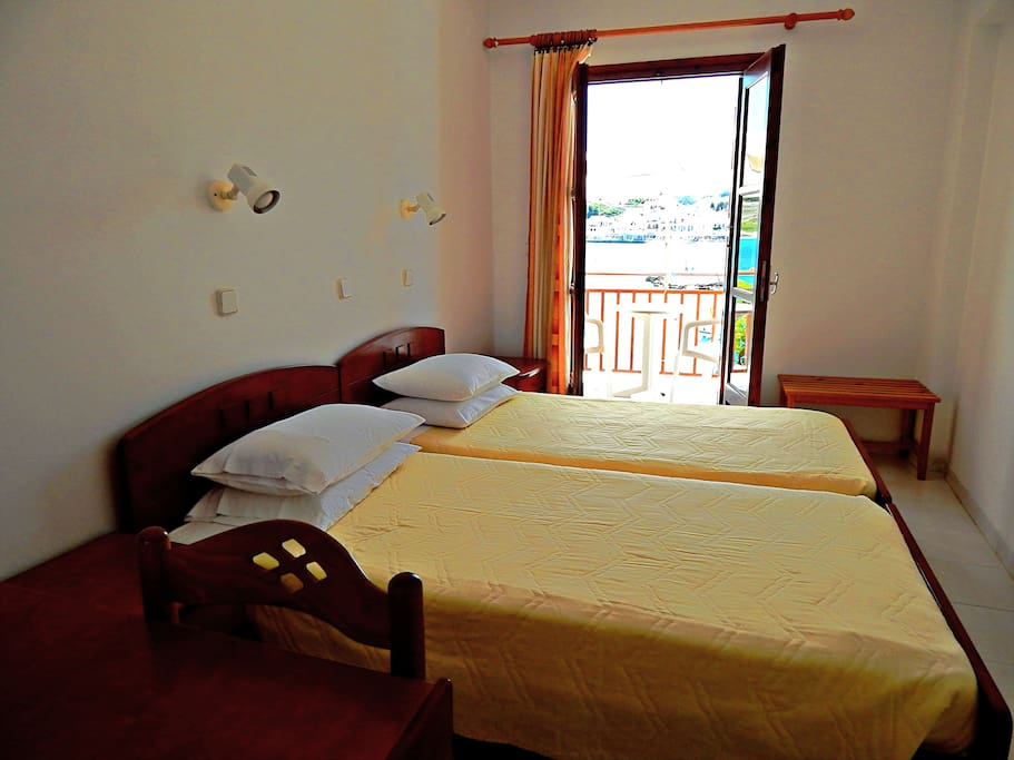 En-suite double bed room with sea view balcony