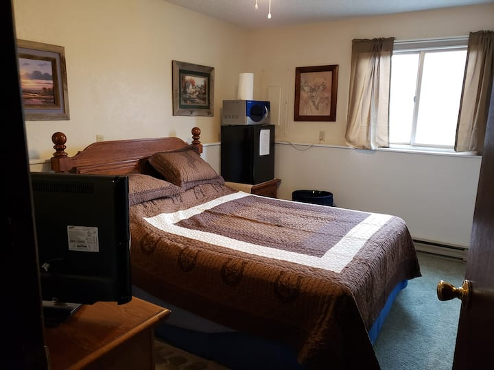 Cozy bedroom clean and quiet