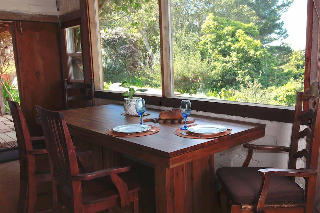 dining area overlooking Pt. Lobos