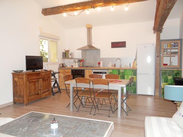 GÏTE: LE RELAIS DU BOUCHON T5 ( 90 m2 ) - Saint-Nazaire-d'Aude - Byt