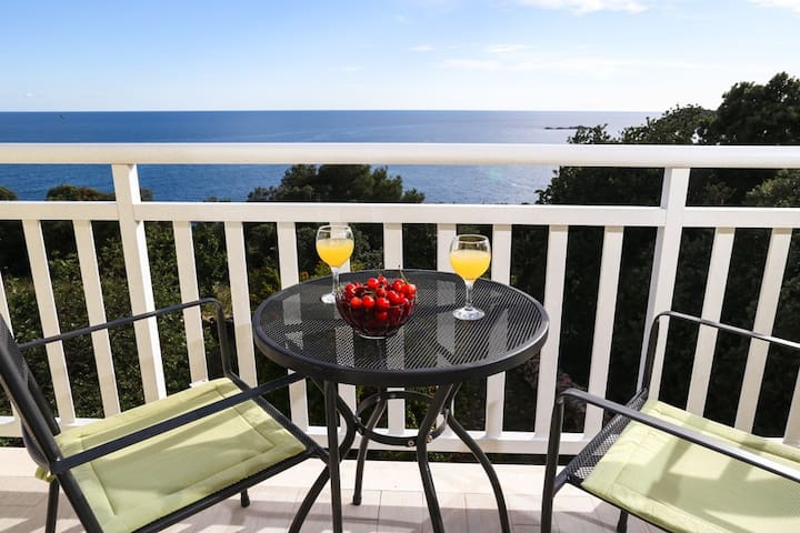 Deluxe Two Bedroom with Balcony and Sea View - Cavtat - Apartamento