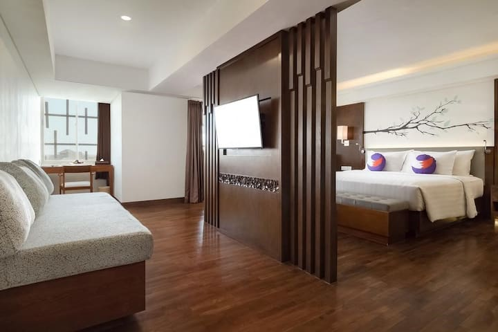 Suite with jacuzzi near Jimbaran beach +BRKFST