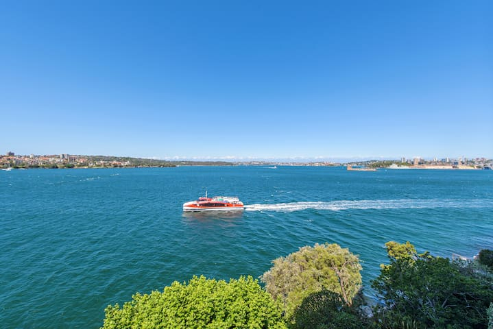 Catch the 6 minute Ferry ride to the Sydney Opera House and Circular Quay from your front door step