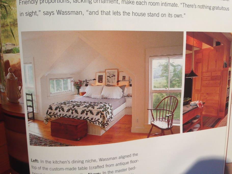 Master bedroom...Magazine shot. Spring/Summer