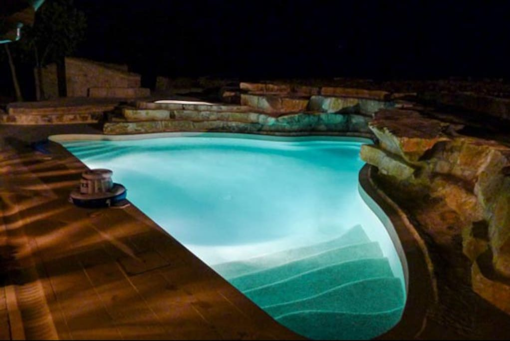 Heated, salt water pool and Jacuzzi.