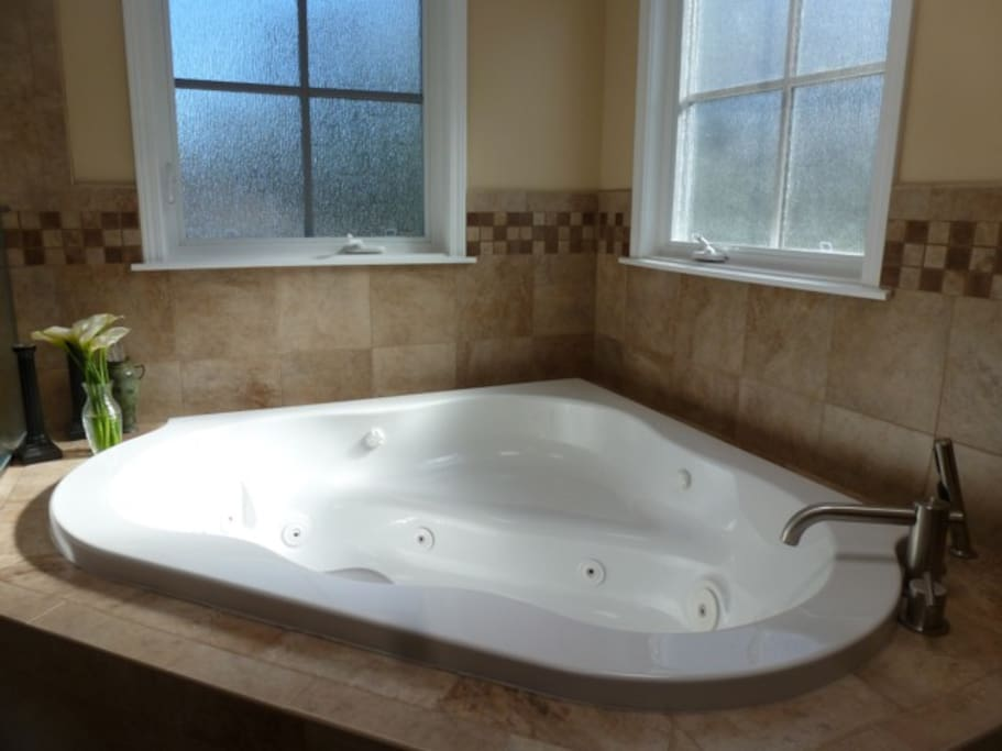 Large spa in master bathroom