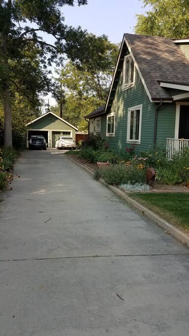 Ample parking, including street parking.