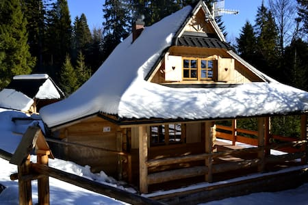 Wooden house in the mountains