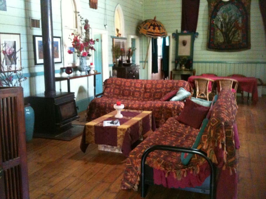 fully self contained 100 year old church, with extra foldout futon beds available