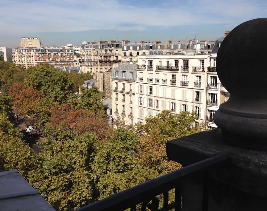 Le balcon présente cette vue.