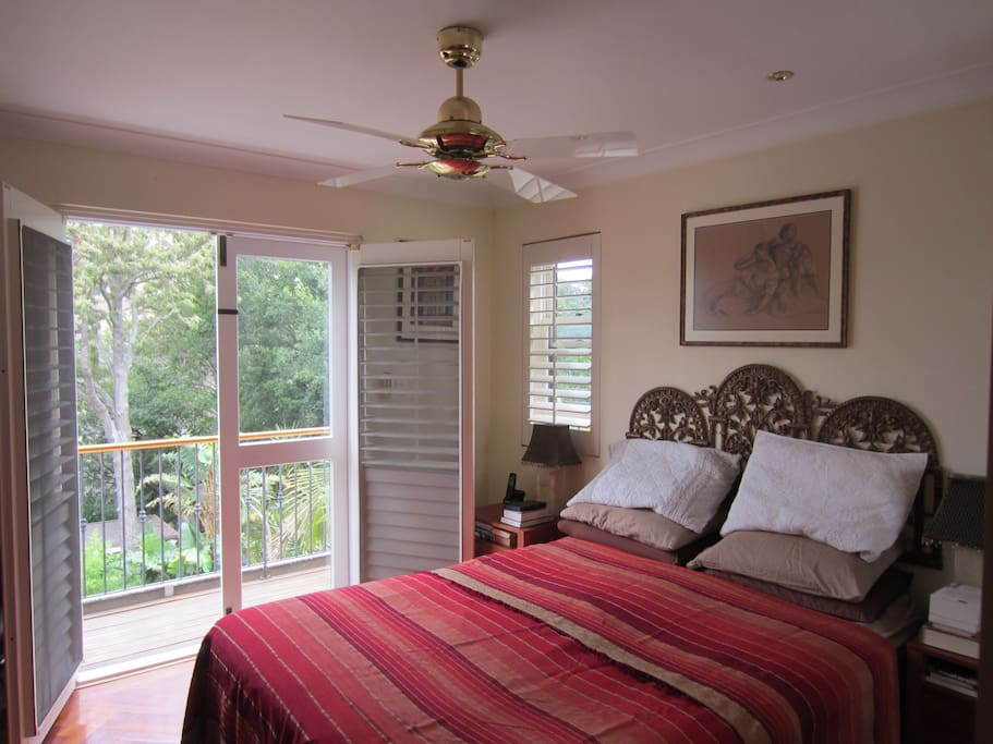 Master bedroom with Juliet balcony and ensuite bathroom