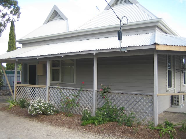 The front of Showgrounds Cottage, a circa 1900 timber cottage.