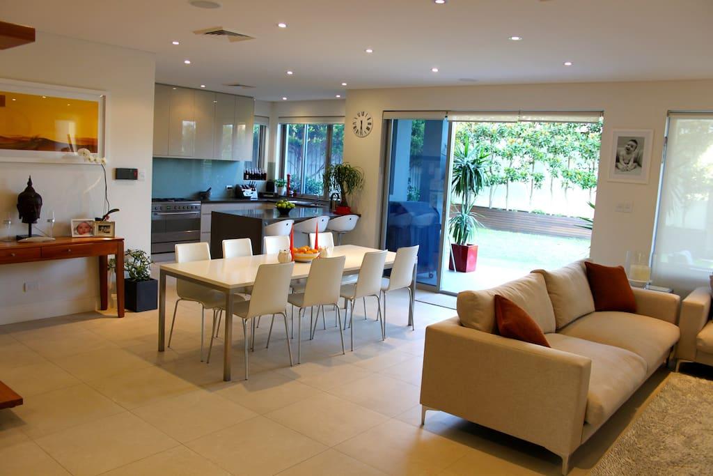 Large, modern, open plan design