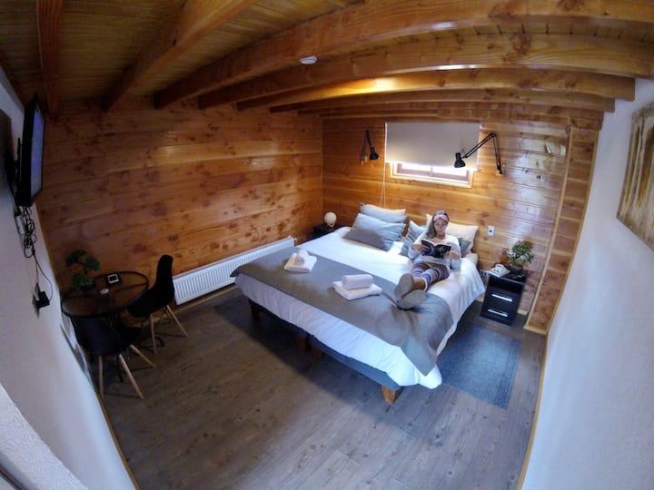 Habitación+Hostal Andes Pucon+tinaja caliente