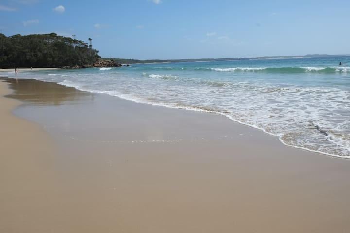 A short walk to a family friendly beach with 5 other beaches nearby