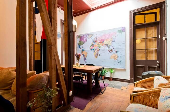 Habitacion single   Casa compartida Valparaíso