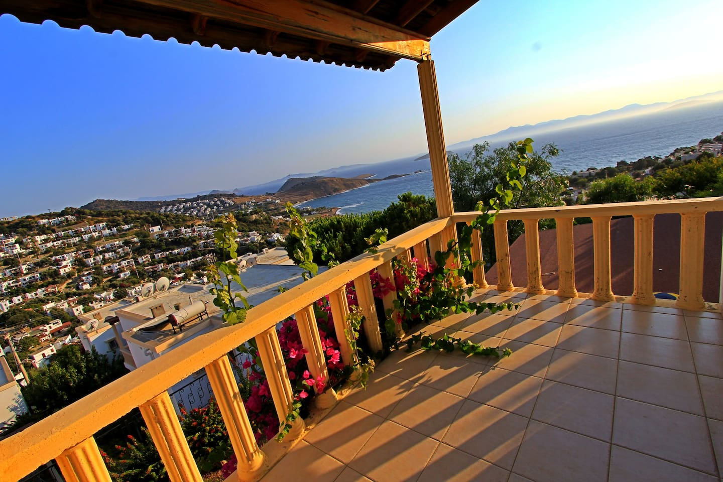 Terrace of the upper floor and one of the most beautiful sunsets you can see!