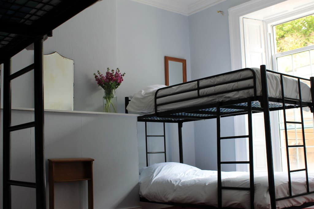 Mixed dorm 18/20 euro per night.