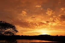 Sunset over Emmarentia Dam