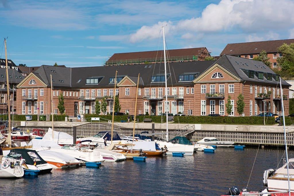 Das historische Gebäude in Flensburg-Sonwik