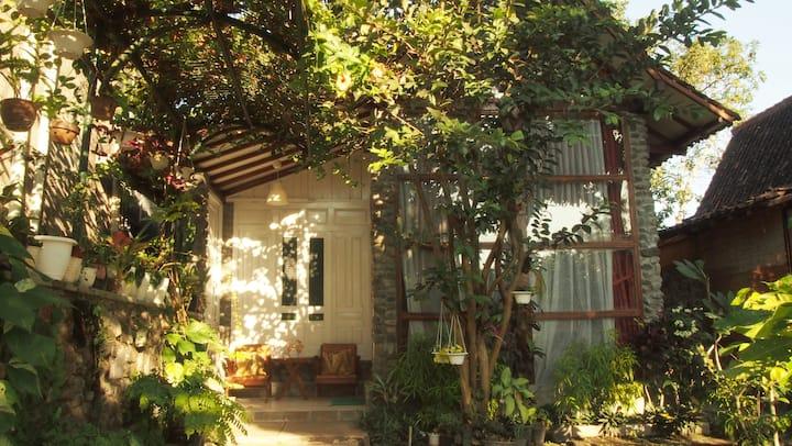 Family Cottage Garden View-Riverside Jogja