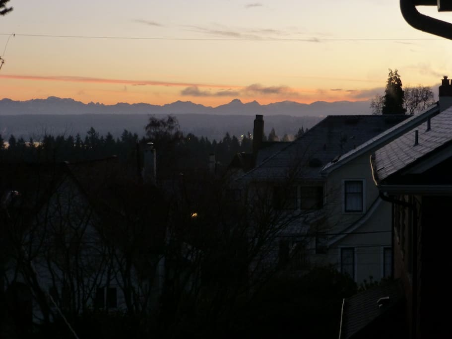 Sunrise view from the top our house and also the top of the street (no, sorry not from your room!)