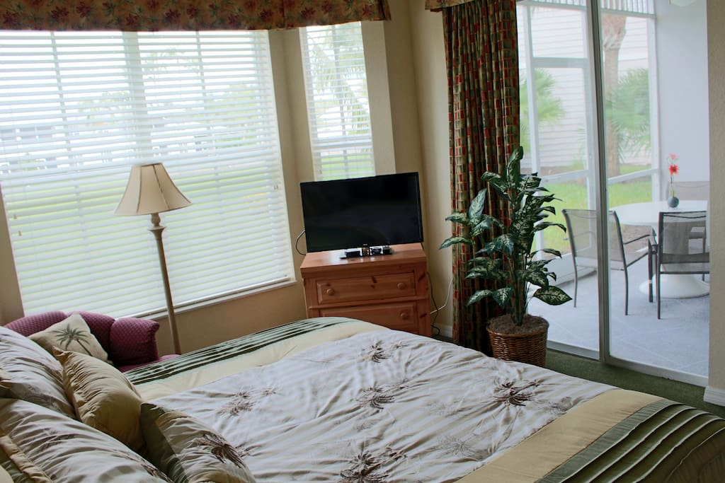 Master bedroom opens to lanai and living room