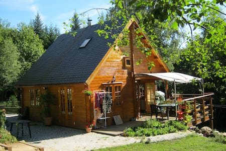 maison bois en pleine nature - Treignac