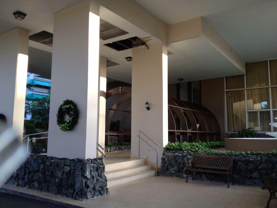 La Mancha building entrance