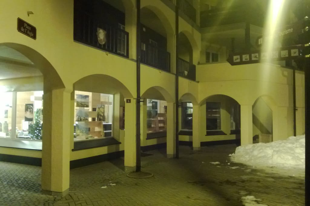 Apartment is on 1.floor over the tourist office in the center of the village