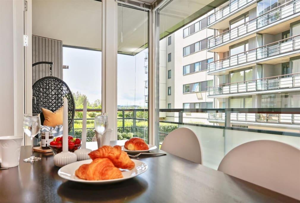 Enjoy a nice Norwegian breakfast