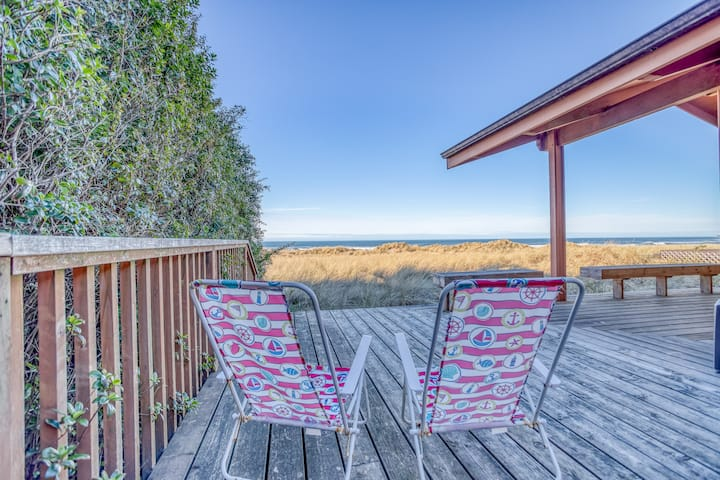 Classic Oceanfront Manzanita Charmer Close to Town and Golf Course!
