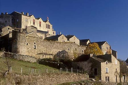 Gîte avec superbe vue et terrasse - Castelnau-Pégayrols - Apartamento