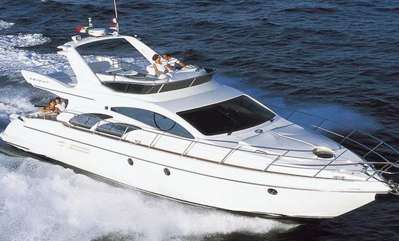 Luxury yacht in Naarden