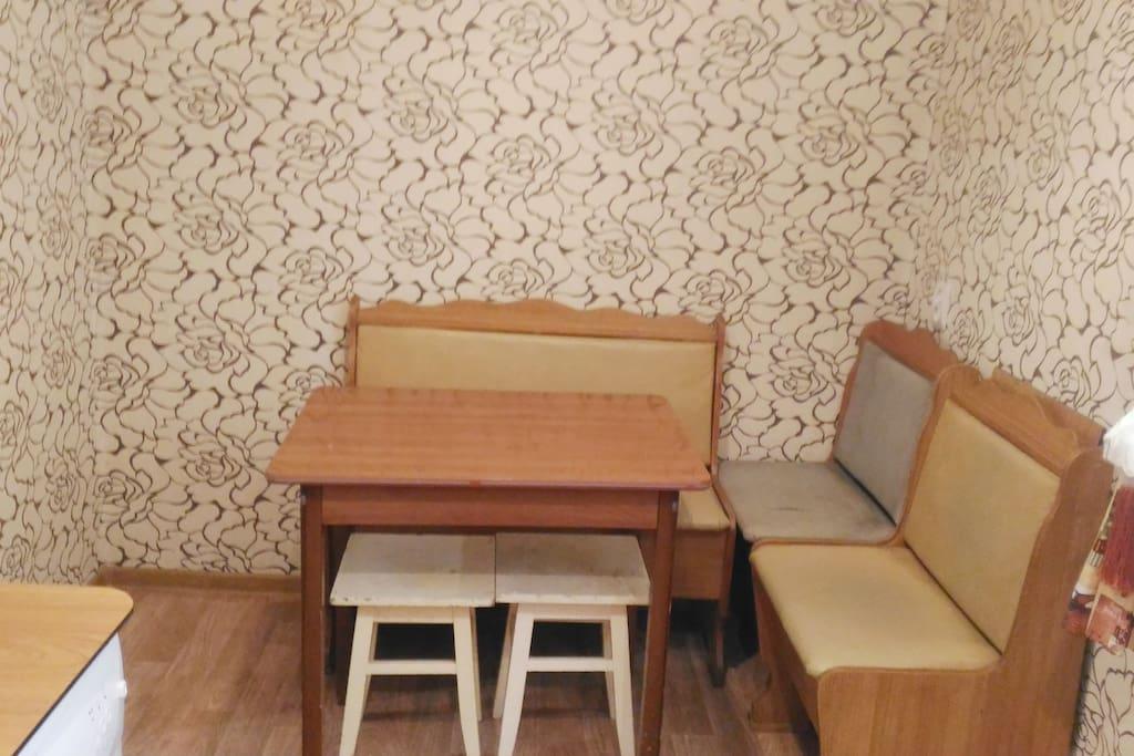 кухня-обеденная зона