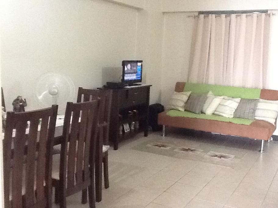 Sala has queen sofa bed, TV and Cable TV.