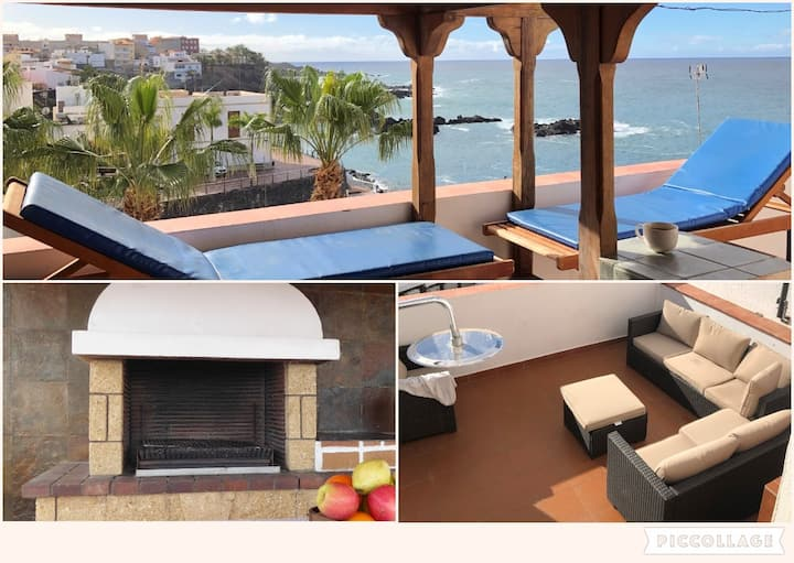 Penthouse with big terrace-scenic view-50m beach