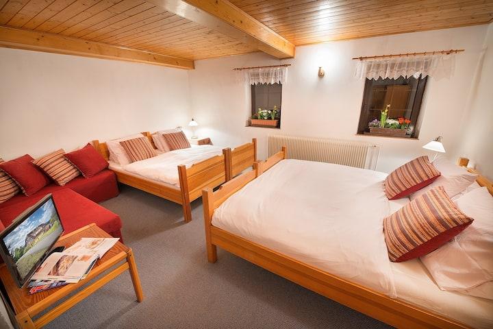 Penzion u Mauritzů - čtyřlůžkový pokoj